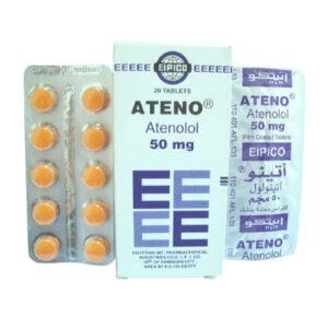 ATENO 50 MG 20 TAB 1