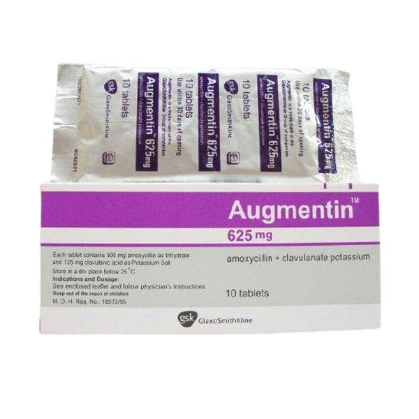 AUGMENTIN 625 MG 10 TAB 1