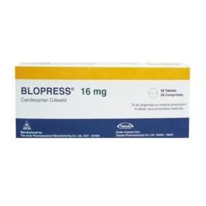 BLOPRESS 16 MG 28 TAB