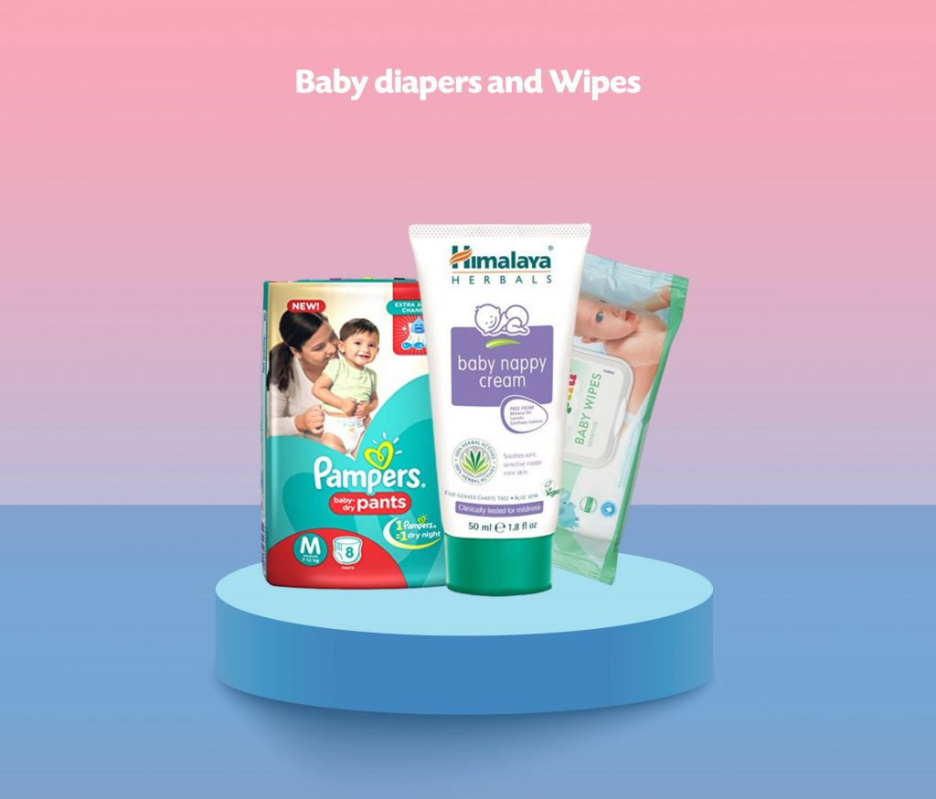 Baby diapers and Wipes scaled