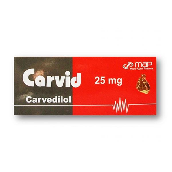 CARVID 25MG 20T 1