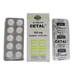 CETAL 500 MG 20 TAB 1
