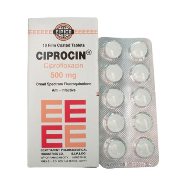 CIPROCIN 500 MG 10 TAB 1