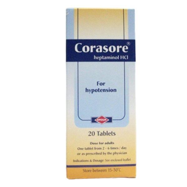CORASORE 20TAB 15ML 1