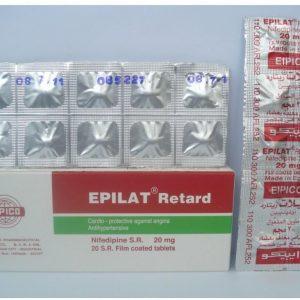 EPILAT RET 20 MG 20 TAB