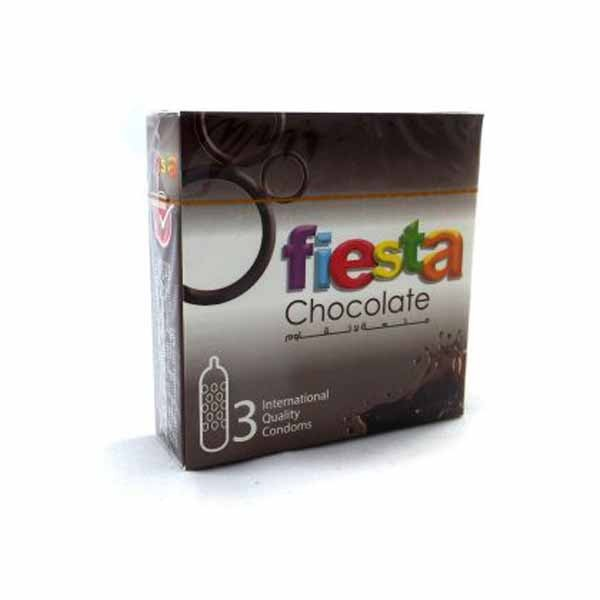 FIESTA 3 CONDOMS CHOCOLATE 2