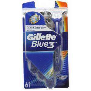 GILLETTE BLUE 3 6 PIECES