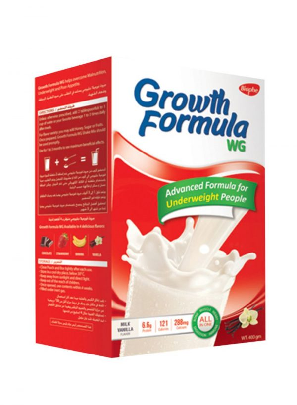 GROWTH FORMULA VANILIA 400GM