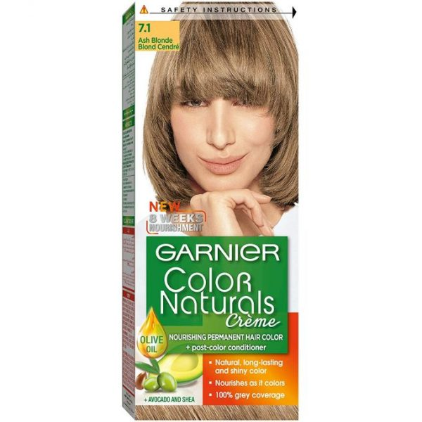 Garnier color naturals ash blonde 7.1