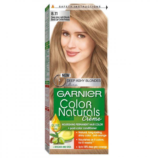 Garnier color naturals deep ashy light blonde 8.11