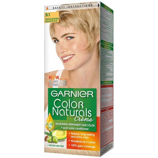 Garnier color naturals extra light ash blonde 9.1
