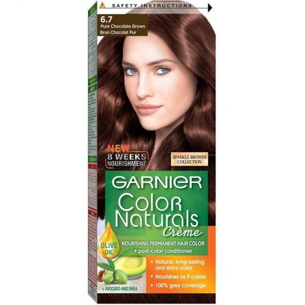 Garnier color naturals pure chocolate brown 6.7
