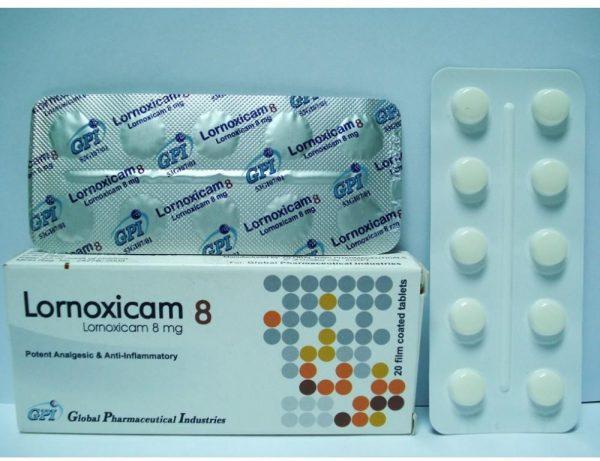 LORNOXICAM 8 MG 20 TAB