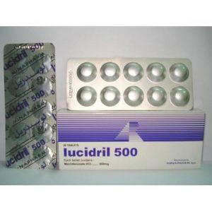 LUCIDRIL 500 MG 20 TAB
