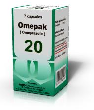 OMEPAK 20MG 7CAP