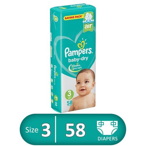 PAMPERS 3 58 DIAPERS