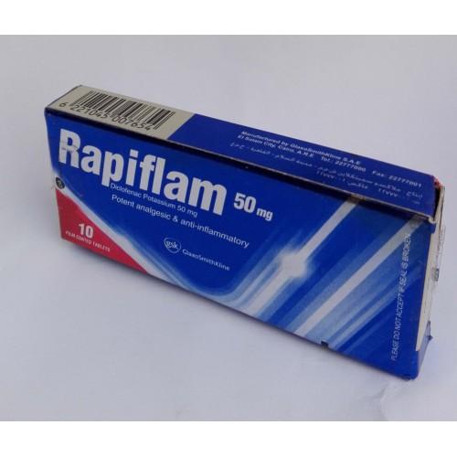 RAPIFLAM 50 MG 10 TAB