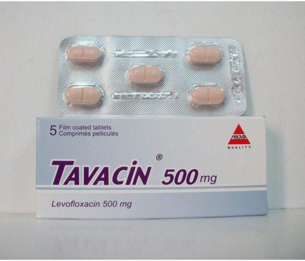 TAVACIN 500 MG 5 TAB