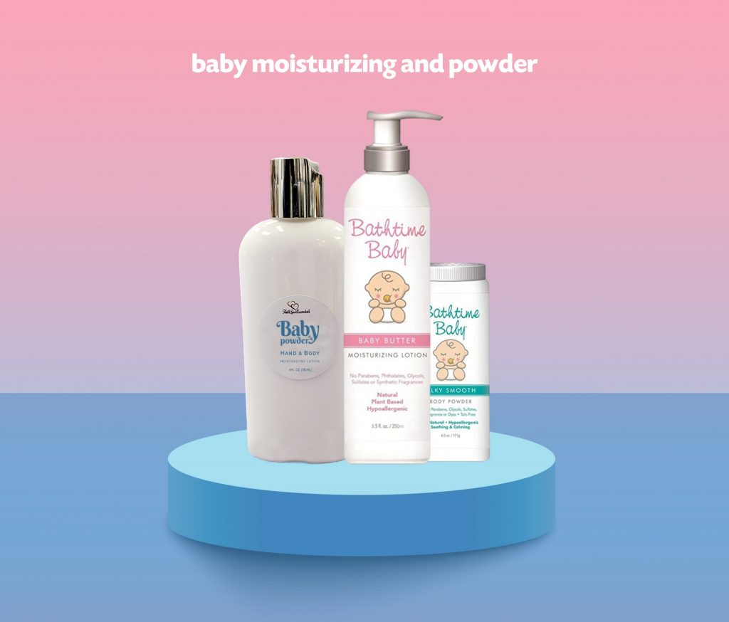 baby moisturizing powder scaled