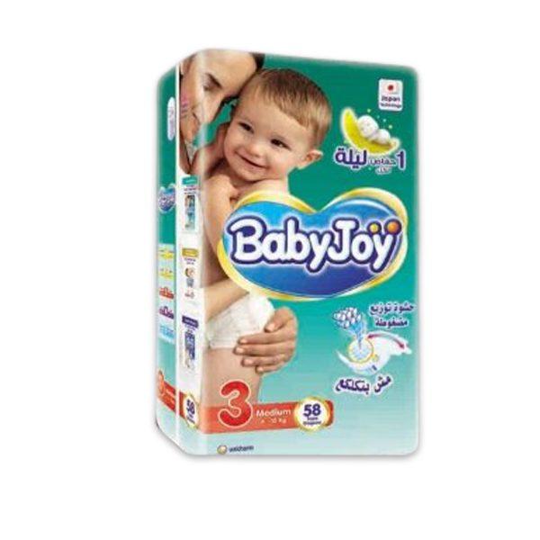 BABY JOY 3 58 DIAPERS