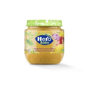HERO BABY MIXED FRUITS WITH CEREALS 6 JAR 120GM