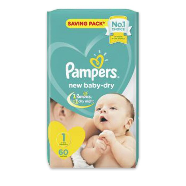 PAMPERS 1 60 DIAPERS
