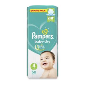 PAMPERS 4 58 DIAPERS