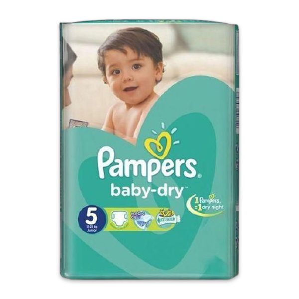 PAMPERS 5 58 DIAPERS
