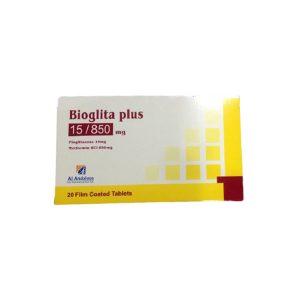 Bioglita plus 15 850 mg 20 F.C tablets.