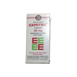 Capotril 50mg 20 scored tabs.