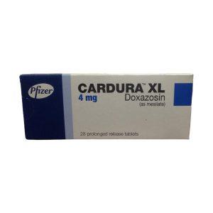 Cardura XL 4mg 28 prolonged release tabs