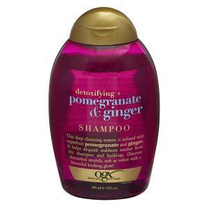 Organix detoxifying plus pomegranate and ginger shampoo 385ml