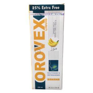 Orovex banana mouth wash 250ml