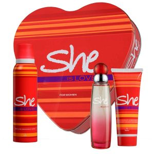 She is love Set For women Body lotion and deodorant spray and eau de toilet