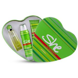 She is sweet Set For women Body lotion and deodorant spray and eau de toilet