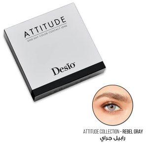 Attitude One Day color contact lens Rebel grey color