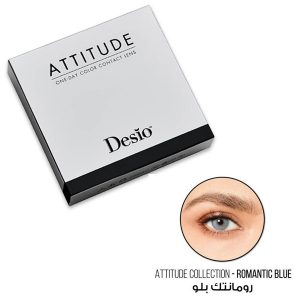 Attitude One Day color contact lens Romantic blue color