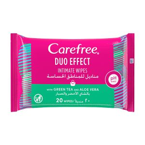 Carefree DUO effect intimate wipes 20 Wipes