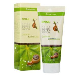 Farmstay snail pure cleansing foam 180ml