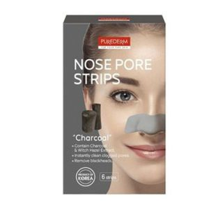 Purederm nose pore strips charcoal 6 strips