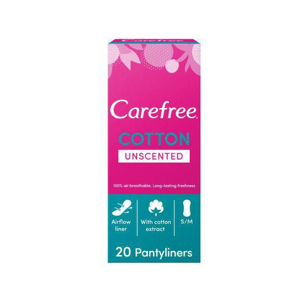CAREFREE UNSECNTED 20 PADS