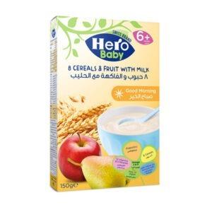 Hero baby 8 cereals and fruit with milk