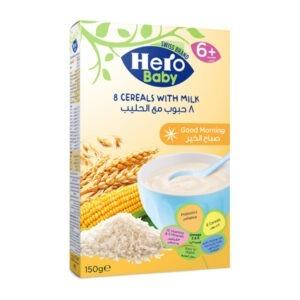 Hero baby 8 cereals with milk